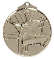 Horizon52 Gymnastics Medal Silver 52mm