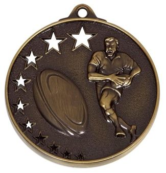 San Francisco50 Rugby Medal Bronze 52mm