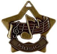 Mini Star Music Medal Bronze 60mm
