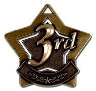 Mini 3rd Place Star Medal Bronze 60mm