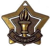 Mini Star Victory Medal Bronze 60mm
