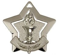 Mini Star Victory Medal Silver 60mm