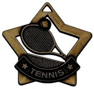 Mini Star Tennis Medal Bronze 60mm