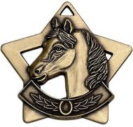 Mini Star Horse Medal Bronze 60mm