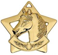 Mini Star Horse Medal Gold 60mm