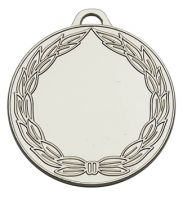 Classicwreath50 Medal Silver 50mm