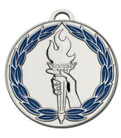 Classictorch50 Colour Medal Silver 50mm
