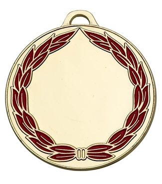 Classicwreath50 Colour Medal Gold 50mm