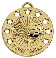 Spectrum40 Football Medal Gold 40mm