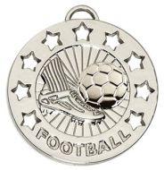 Spectrum40 Football Medal Silver 40mm