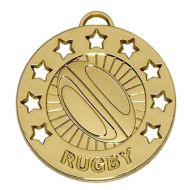 Spectrum40 Rugby Medal Gold 40mm