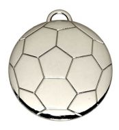 Football40 Medal Silver 40mm