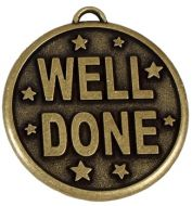 Elation Star50 Well Done Medal Gold 50mm