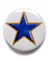 Blue Star Button Badge