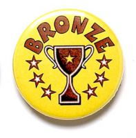 Bronze Cup Trophy Award Button Badge