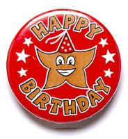 Happy Birthday Button Badge