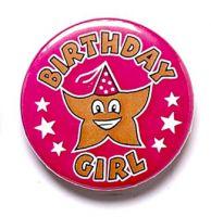 Birthday Girl Button Badge
