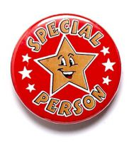 Special Person Button Badge