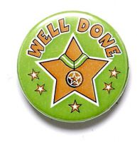 Well Done Button Badge