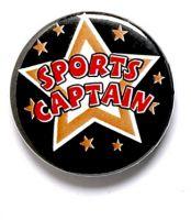Sports Captain Button Badge