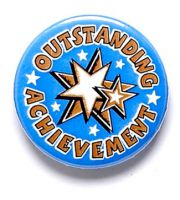 Outstanding Achievement Button Badge