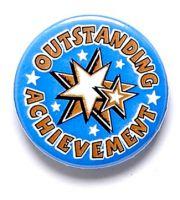 Outstanding Achievement Button Badge