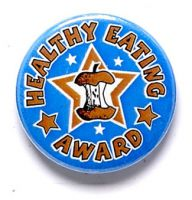 Healthy Eating Button Badge