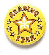 Reading Star Button Badge
