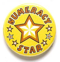 Numeracy Star Button Badge