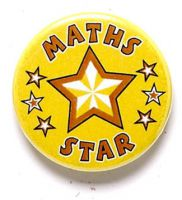 Maths Star Button Badge