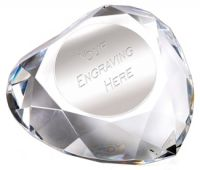 Heart Faceted Paperweight