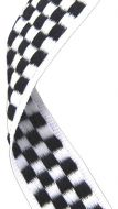 Medal Ribbon Chequered Flag 7/8 X 32 Inch