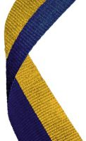 Medal Ribbon Blue and Gold New 2013