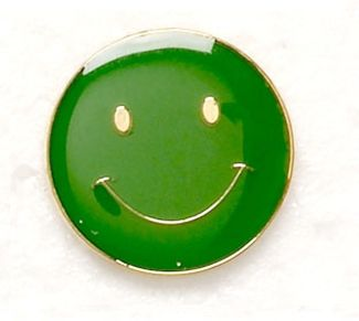 Button Badge Smile Green (New 2010)