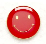 Button Badge Smile Red