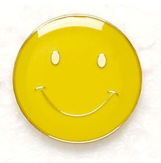Button Badge Smile Yellow