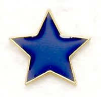 Badge Flat Star Blue (New 2010)