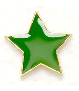 Badge Flat Star Green (New 2010)