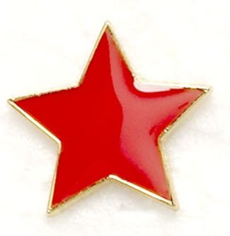 Badge Flat Star Red (New 2010)