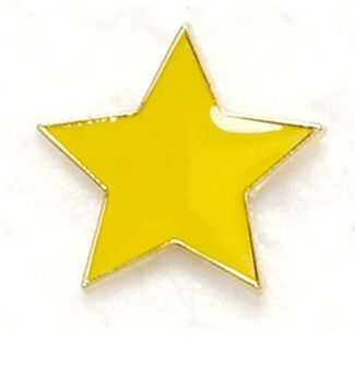 Badge Flat Star Yellow (New 2010)