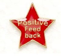 Badge Positive Feedback Red (New 2010)