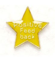 Badge Positive Feedback Yellow (New 2010)