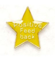 Badge Positive Feedback Yellow