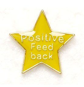 Badge Positive Feedback Yellow