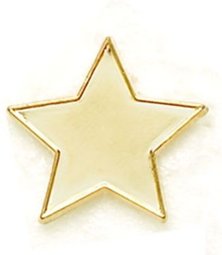 Badge Flat Star Gold (New 2010)