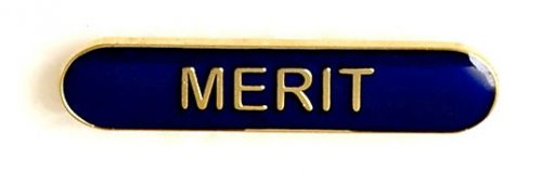 Bar Badge Merit Blue (New 2010)