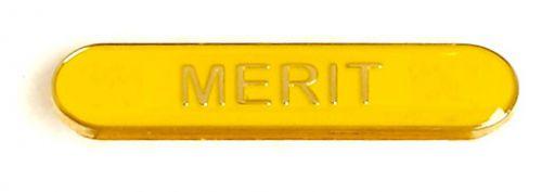 Bar Badge Merit Yellow