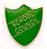 Shield Trophy Award Badge School Council Green (N