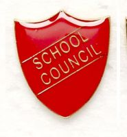 Shield Trophy Award Badge School Council Red (New 2010)