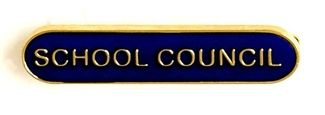 Bar Badge School Council Blue
